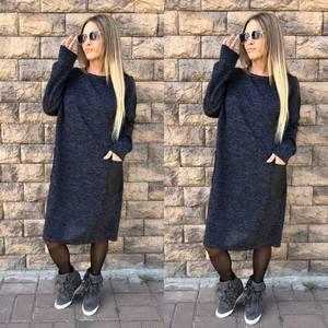 Платье короткое трикотажное однотонное У7545