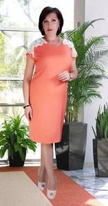 Платье короткое нарядное с кружевом У7551