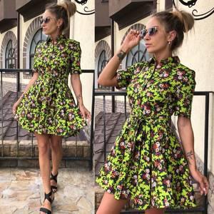 Платье короткое современное летнее У0295