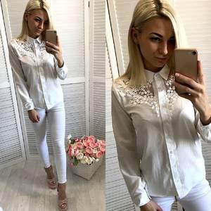 Блузка белая У7322