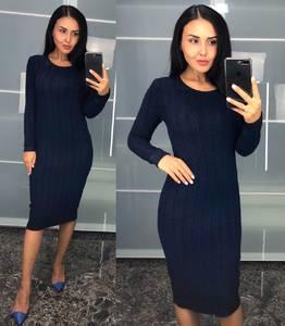 Платье короткое трикотажное облегающее У9419