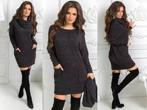 Платье короткое с длинным рукавом нарядное Ш9208