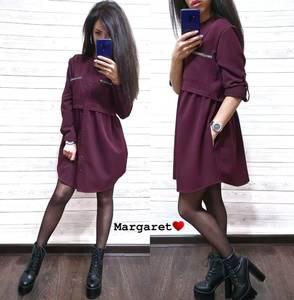 Платье короткое с длинным рукавом А34901