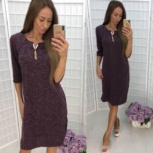 Платье короткое трикотажное однотонное У7518
