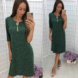 Платье короткое трикотажное однотонное У7519