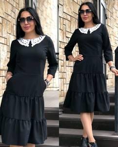 Платье длинное черное нарядное Т9920
