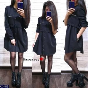 Платье короткое с длинным рукавом А34902