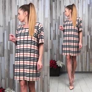 Платье короткое с принтом летнее Т8434