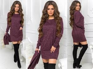 Платье короткое с длинным рукавом нарядное Ш9210