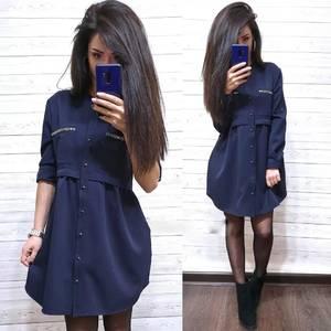Платье короткое с длинным рукавом А34903
