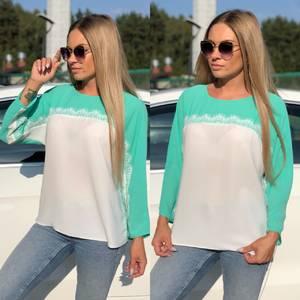 Блуза летняя прозрачная У8937