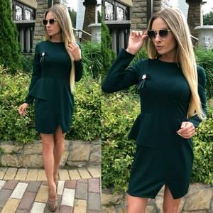 Платье короткое однотонное современное У0486