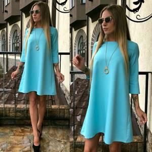 Платье короткое однотонное современное У0480