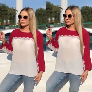 Блуза летняя прозрачная У8938