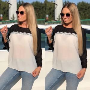 Блуза летняя прозрачная У8940