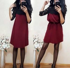 Платье короткое с рукавом 3/4 современное Ф6411