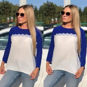 Блуза летняя прозрачная У8941