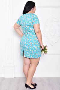 Платье короткое с принтом нарядное С9204