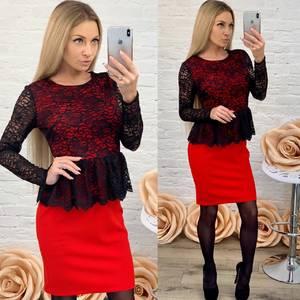 Платье короткое нарядное с длинным рукавом Ф9615