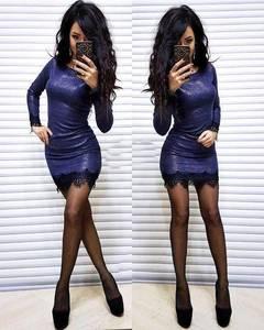 Платье короткое с длинным рукавом облегающее Ф6128