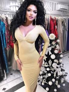 Платье короткое с длинным рукавом облегающее Ф6130