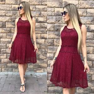 Платье короткое нарядное красное У8883