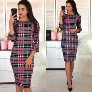 Платье короткое нарядное деловое Ф5488
