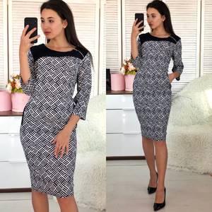 Платье короткое нарядное деловое Ф5490