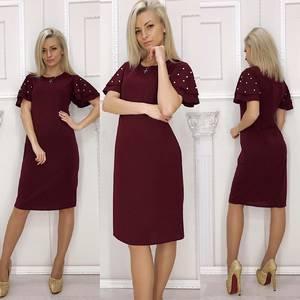Платье короткое нарядное элегантное Ф5916