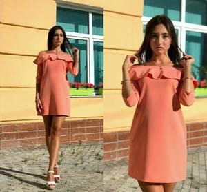 Платье короткое нарядное однотонное Т9711