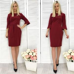 Платье короткое с рукавом 3/4 классическое Ф2289