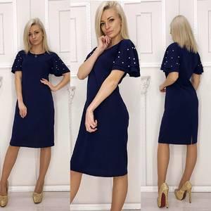Платье короткое нарядное однотонное Ф5917