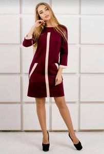 Платье короткое современное красное У9817