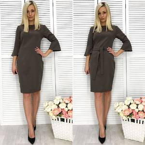 Платье короткое с рукавом 3/4 классическое Ф2290