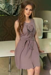 Платье короткое коктейльное нарядное Т9878
