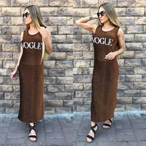 Платье длинное повседневное без рукавов Т5256