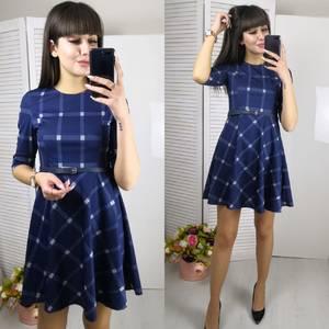 Платье короткое с рукавом 3/4 элегантное Ф5802