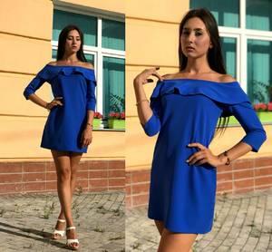 Платье короткое нарядное однотонное Т9709