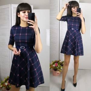 Платье короткое с рукавом 3/4 классическое Ф5803