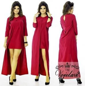 Платье длинное однотонное А08339