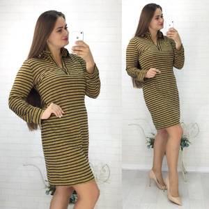 Платье короткое повседневное с длинным рукавом У0848