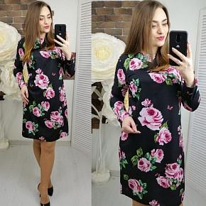 Платье короткое с длинным рукавом Ц2617