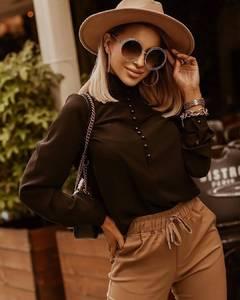 Блуза с длинным рукавом А16505