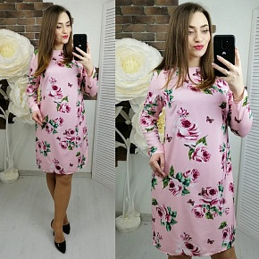 Платье короткое с длинным рукавом Ц2619