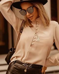 Блуза с длинным рукавом А16506
