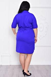 Платье короткое офисное синее С9187