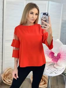 Блуза с коротким рукавом Ц2307