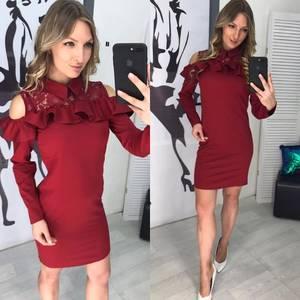Платье короткое с длинным рукавом современное Х8721