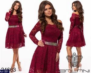 Платье вечернее нарядное с длинным рукавом современное Ш9282