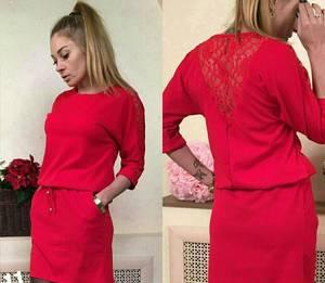 Платье короткое с рукавом 3/4 современное Х8731